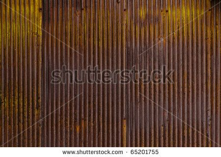 Stock Photo A Rusty Corrugated Iron Metal Fence Close Up