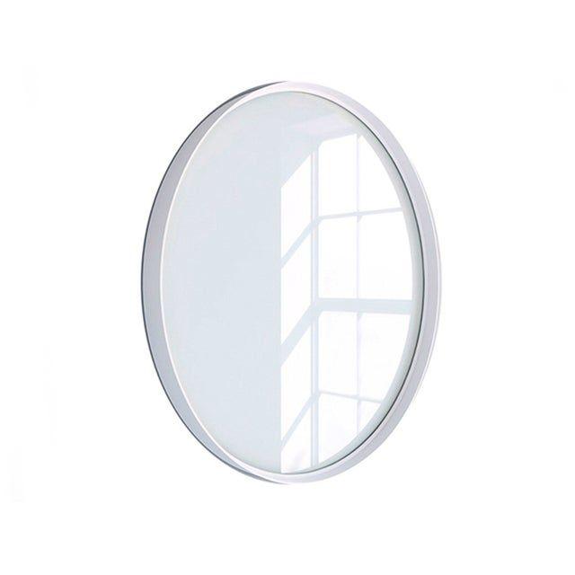 Miroir Non Lumineux Encadre L 60 X H 60 Cm Diam 60 Cm Blanc Randal Kende Leroy Merlin Miroir Lumineux Blanc
