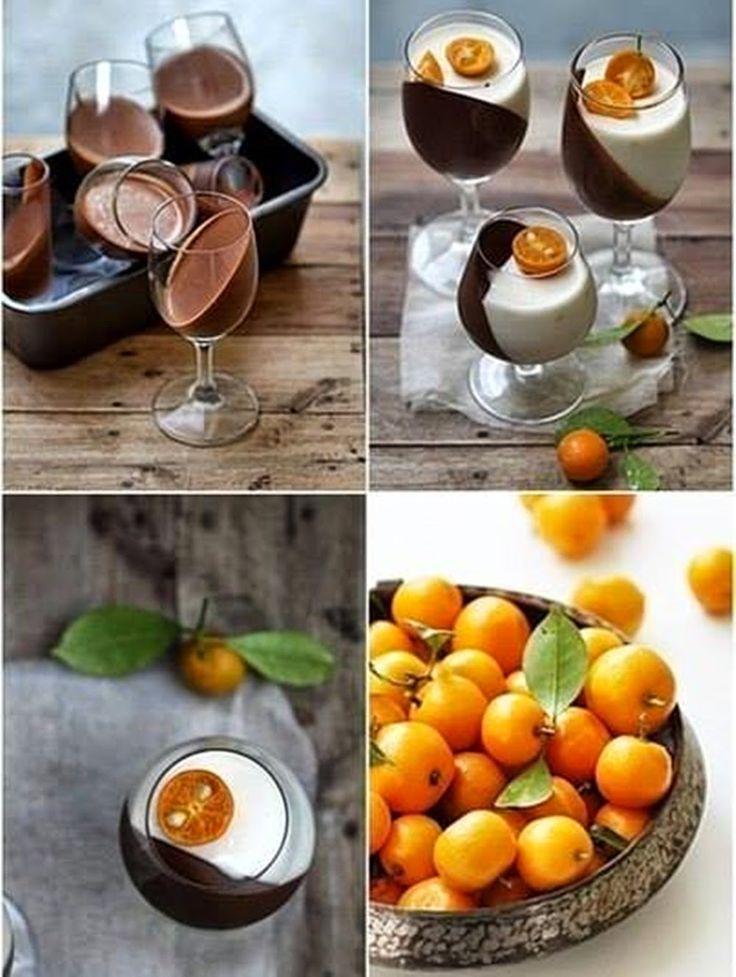 A képeken látható desszertek látványosságát az adja, hogy ferdén kitámasztották a poharakat (pl. muffinsütő tepsibe téve) amíg az először ...