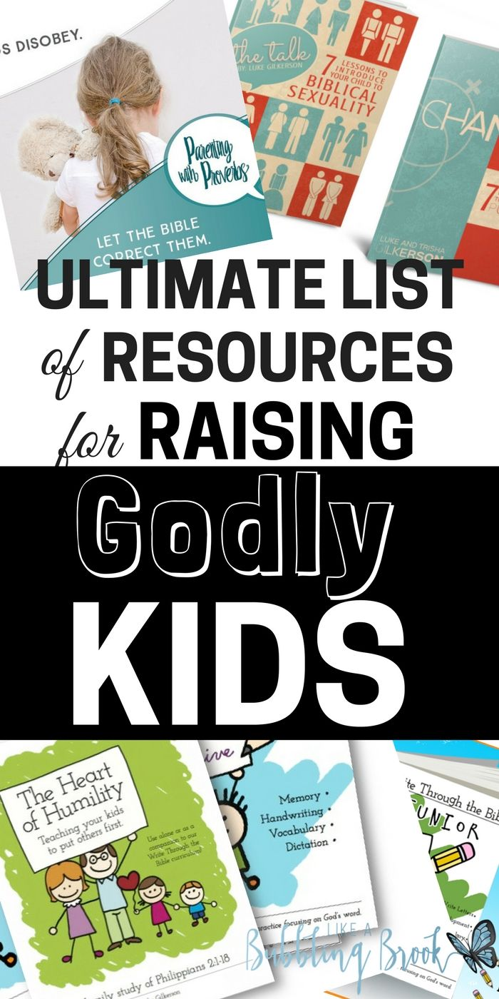 Raising Godly Kids | Christian Parenting Resources | Bible Studies for Children