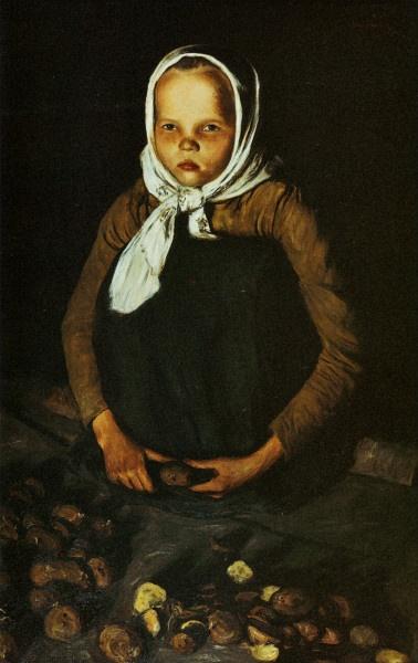 """""""Perunatyttö"""" (1901) by Hugo Simberg"""