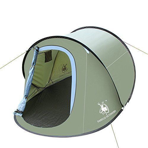 camping hiking pop up tent instant shelter easy setup quick foldback large size quick