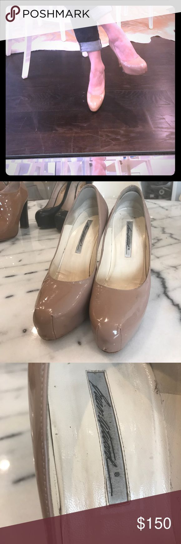 Brian Atwood Maniac pumps in nude patent leather Brian Atwood 'maniac' pumps in nude patent leather Shoes Heels