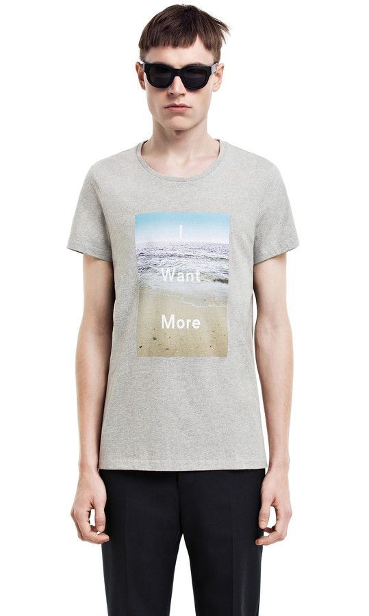 acne studios / i want more tshirt instore at ZAMBESI tyler & wellington