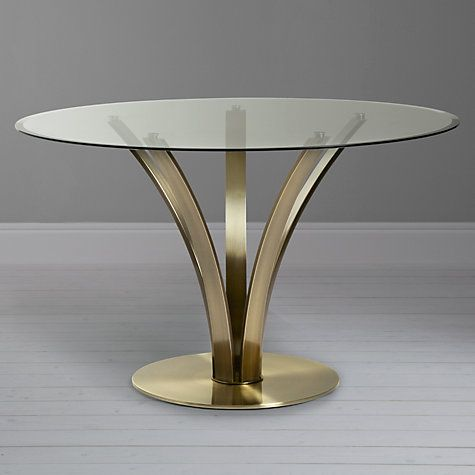 Buy John Lewis Moritz Dining Table, Antique Brass Online at johnlewis.com