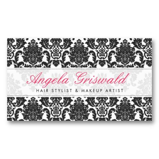 9 best business cards ideas images on pinterest business card elegant pink black damask business cards reheart Choice Image