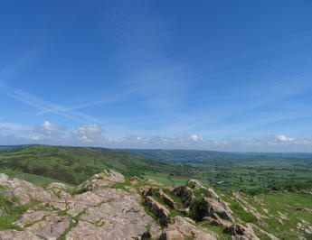 The view from Crook Peak is always astounding, but all the more so on a glorious sunny day. Photo: Mendip Hills AONB