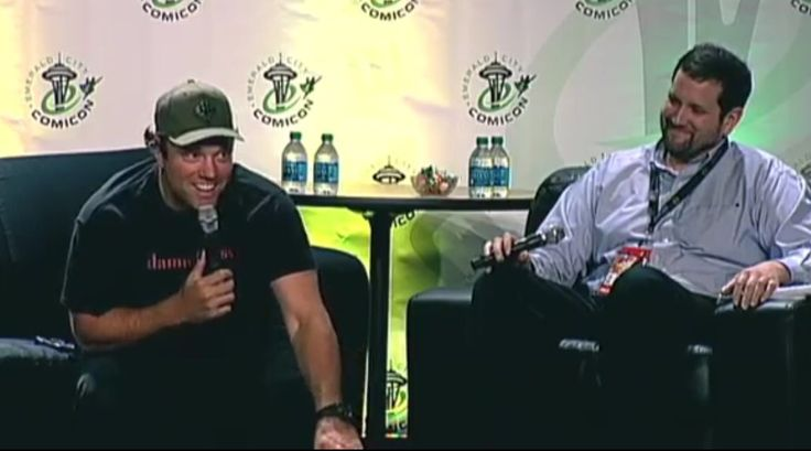 Adam Baldwin at the Seattle Comic-Con panel.