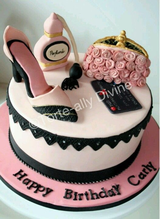 Just Love This Cake Handbag Shoes Perfume What More
