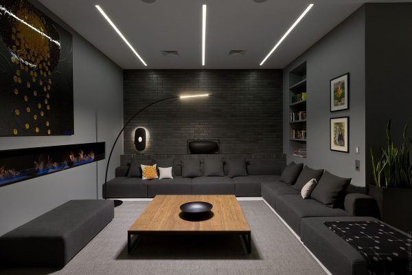 How To Decorate A Brick Wall In The Living Room Best Living Room Design Modern Apartment High Lounge