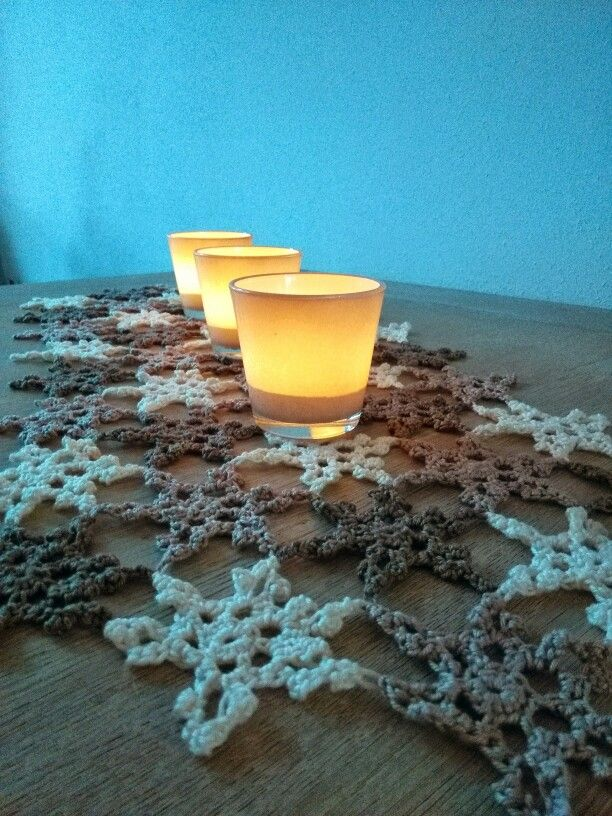 Kerst tafelloper, gehaakt, catania, met patroon