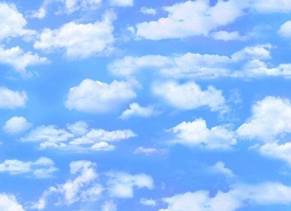 Blue Skies Billowy Clouds Landscape Medley Elizabeth S Studio 505 Light Blue By Yard Blue Sky Clouds Sky And Clouds Clouds