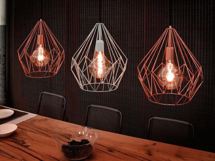 Eglo Lighting Vintage Collection / Carlton / Wired Cage Effect Contemporary 1 Lamp Pendant Light