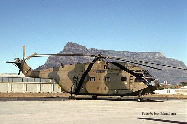 South African Air Force Aérospatiale Super Frelon No314. Kept in running condition at Museum at Ysterplaat Air Force Base, South Africa.