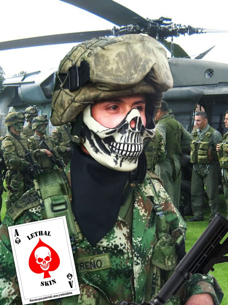 Skull face,Colombian Army