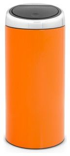 Brabantia Touch Bin®, 8 Gallon, Chrome Orange - modern - kitchen trash cans - by Cutlery and Beyond