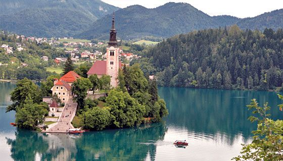 Slovenia - nestled between the Alps and the Mediterranean....