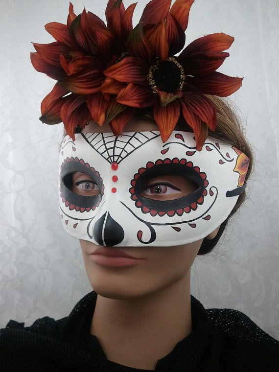 Day of the Dead Painted Paper Mache Mask