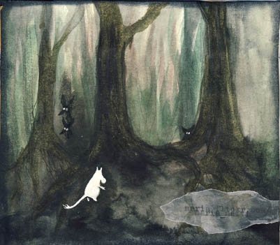Moomin in the forest