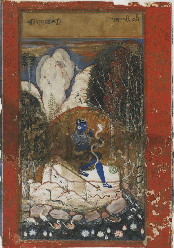 Asavari Ragini, Ragamala painting from Rajasthan, 17th c.