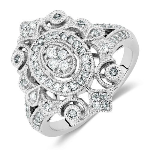 1/2 CARAT TW DIAMOND VINTAGE RING