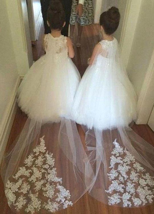 white flower girl dresses, flower girl dresses white, cheap flower girl dresses…
