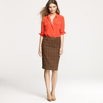 cute pencil skirtPlaid Skirts, Autumn Outfit, J Crew, Fall Work Outfits, Offices Outfit, Fall Outfit, Pencil Skirts, Jcrew, Offices Chic
