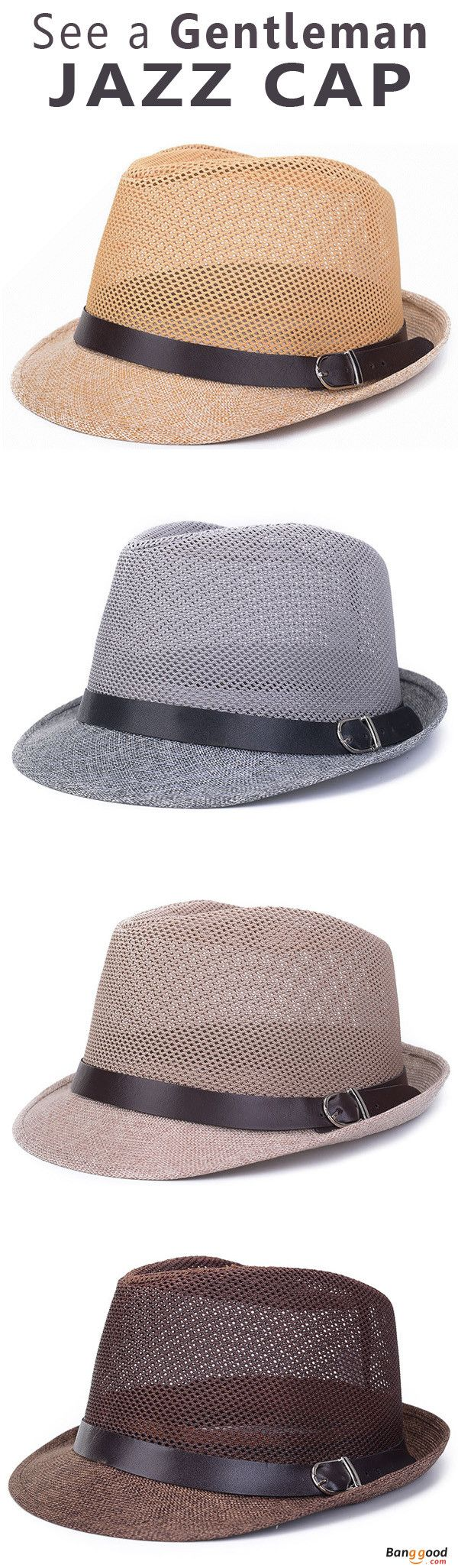 US$7.89+Free shipping. Men's Cap, Men's Fashion, Panama Hat, Beach Hat, Cabbie Hat. It is made of flax, comfortable and durable.Featuring pinched crown and curved brim,decoration with belt.A great accessory and suitable for both men and women. Color: Black, Gray, Beige, Khaki, Dark Coffee, Light Coffee, White.
