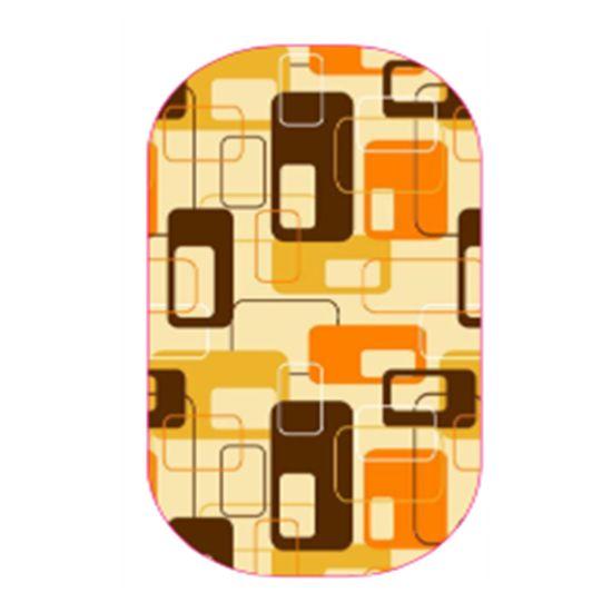 Retro Modern Burnt Orange | Jamberry #CandiedJamsCustomDesigns #retro #modern #retromodern #orange #brown #jamberry #NAS #nailwraps #jamberrynails #nailpolish #nailsoftheday #nailsofinstagram #nailart #nailstagram #pretty #cute
