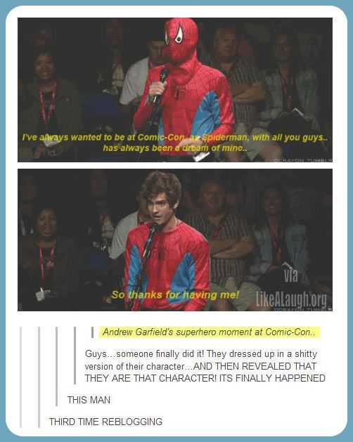 Andrew Garfield wins Comic Con…