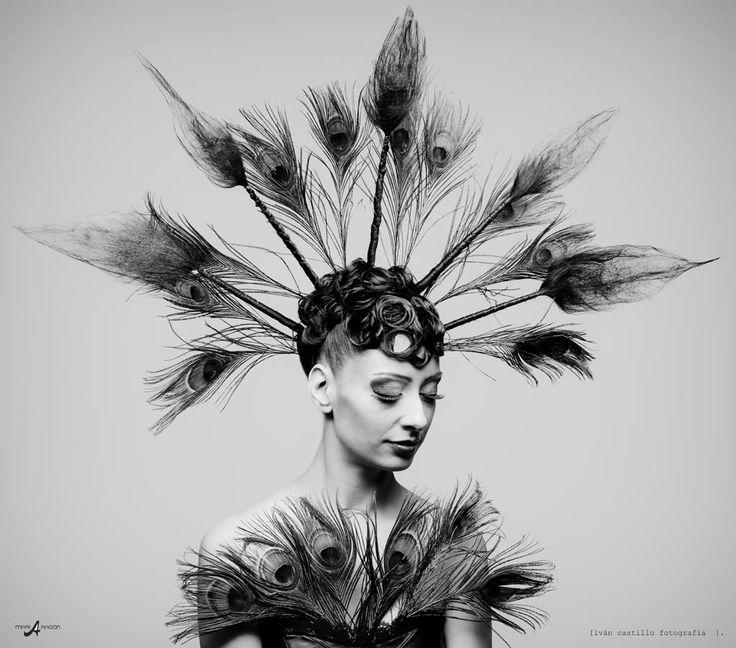 Pavo real .....[style master 2014]  maria aragón peluqueria+ iván castillo fotografía.