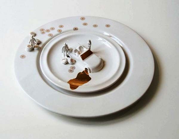 pics of modern DISHES | Modern Tableware Art from Judith Montens, Creative Green and White ...