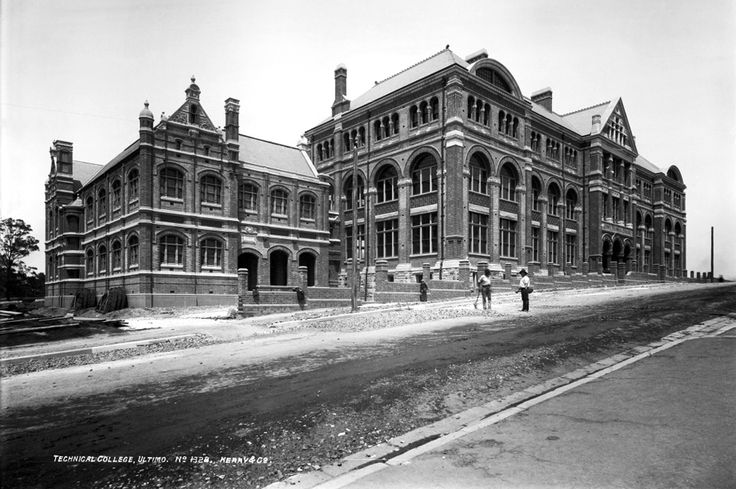 Technical College,Ultimo,Sydney in 1891.Photo from Dictionary of Sydney.A♥W