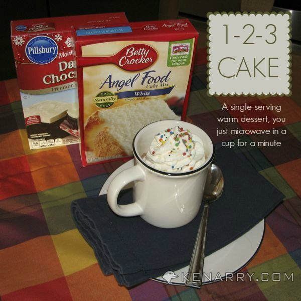 1-2-3 Cake: A Single-Serving Dessert in a Cup - Kenarry.com - An inspired idea by The Hidden Pantry