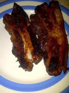 garlic, soy & honey slow cooked pork belly slices