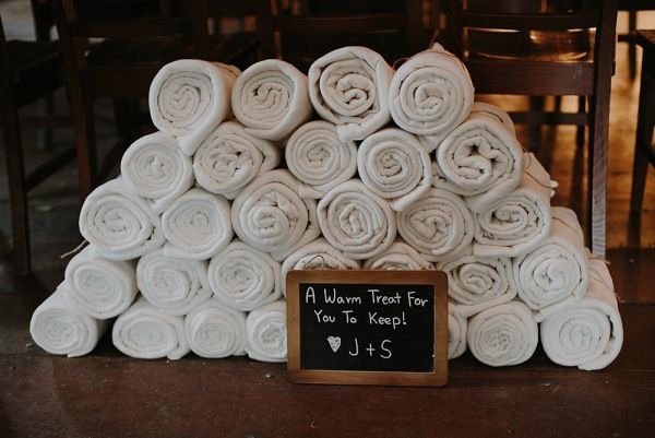 Blanket Favours Wedding styling by Make Your Day makeyourdayweddingstyling.com.au Suzanne & Jeng