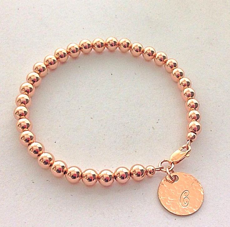 Rose Gold Ball Bracelet. Also available in gold and sterling silver.  Order yours today at www.lovencherish.com