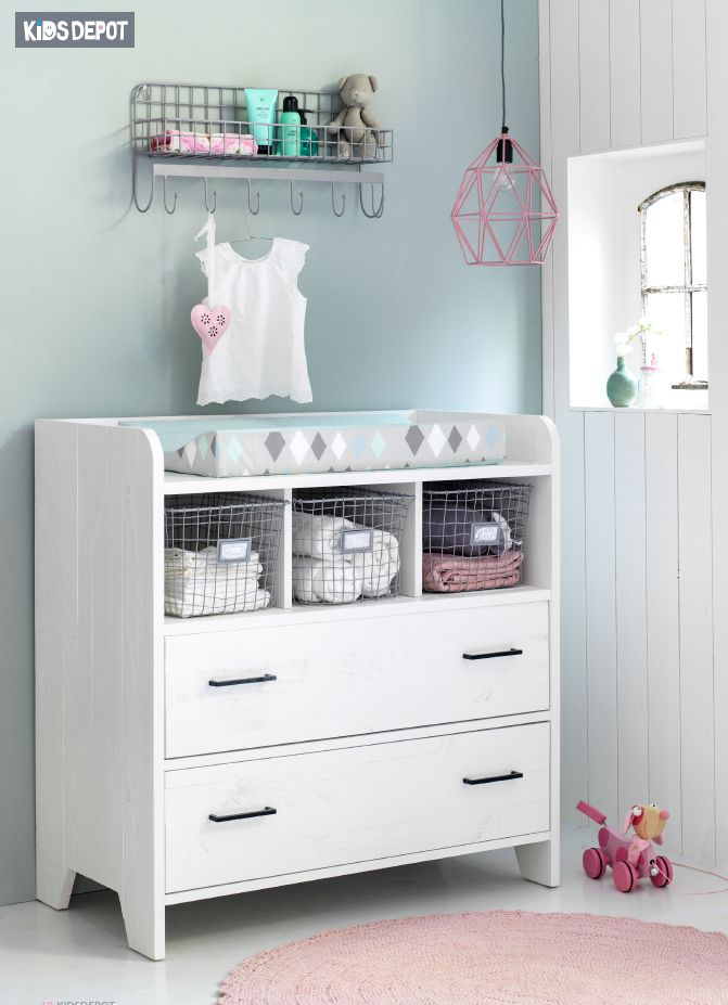 Wandrek Babykamer. Wire Wallshelf Kidsdepot.
