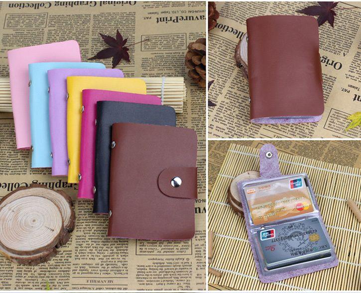 Useful Business Credit Card Holder PU Leather