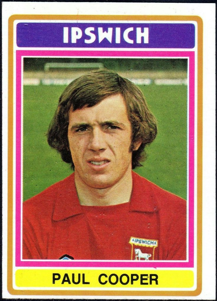 Paul Cooper of Ipswich Town in 1976.