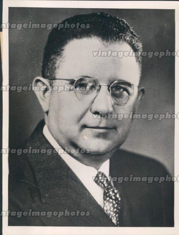 1940 Photo J Harry McGregor Republican U.S. House Representatives Ohio Original