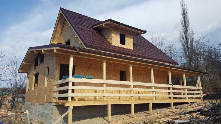 Tehnologie constructii case lemn, la rosu -  constructia casei de la Dra...