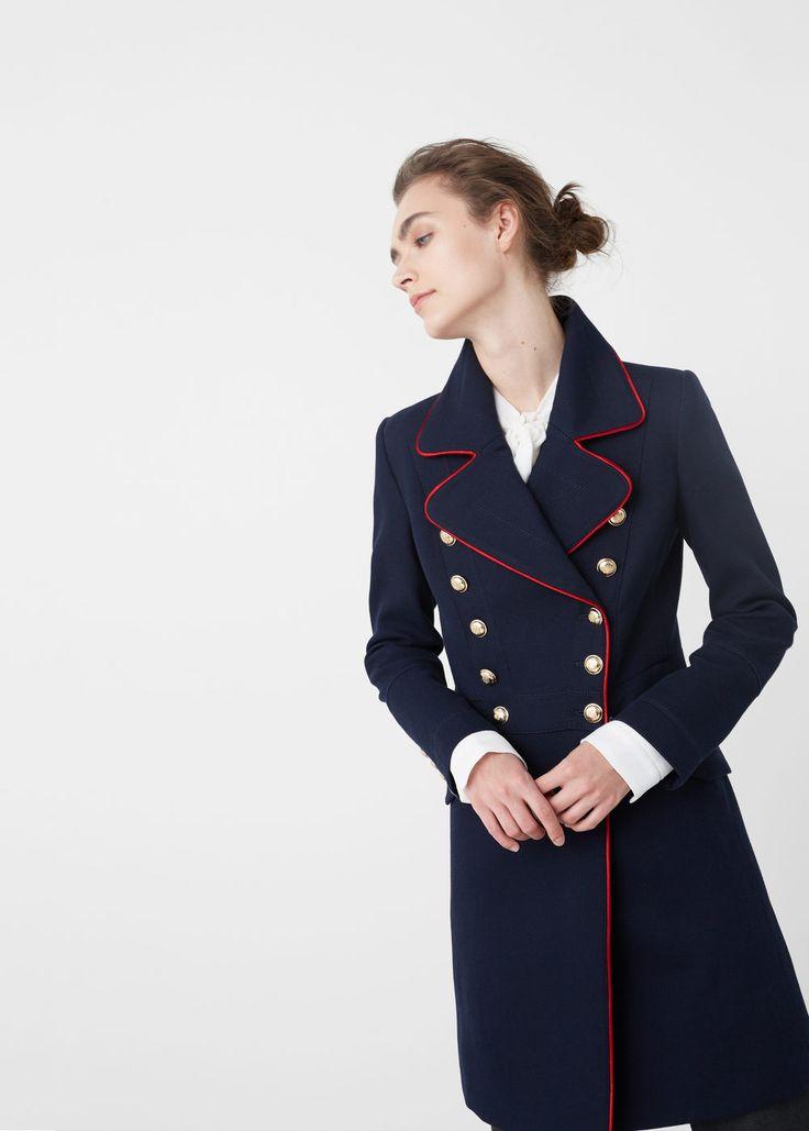 Military style coat - Coats for Women | MANGO USA