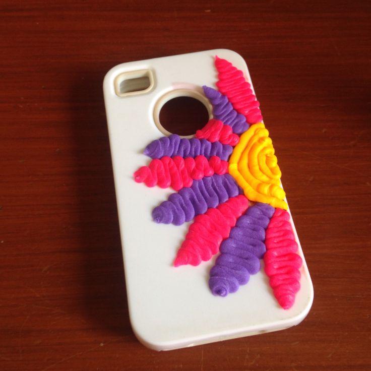 DohVinci design - Doh Vinci - celular case - flower - maco brunet - DIY
