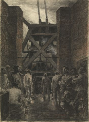 Constantin Meunier : Descending Miners / Afdalende mijnwerkers