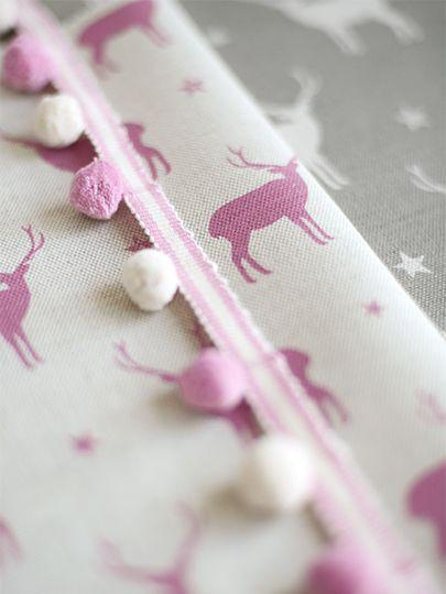 Ivory & French Pink Pom Poms x