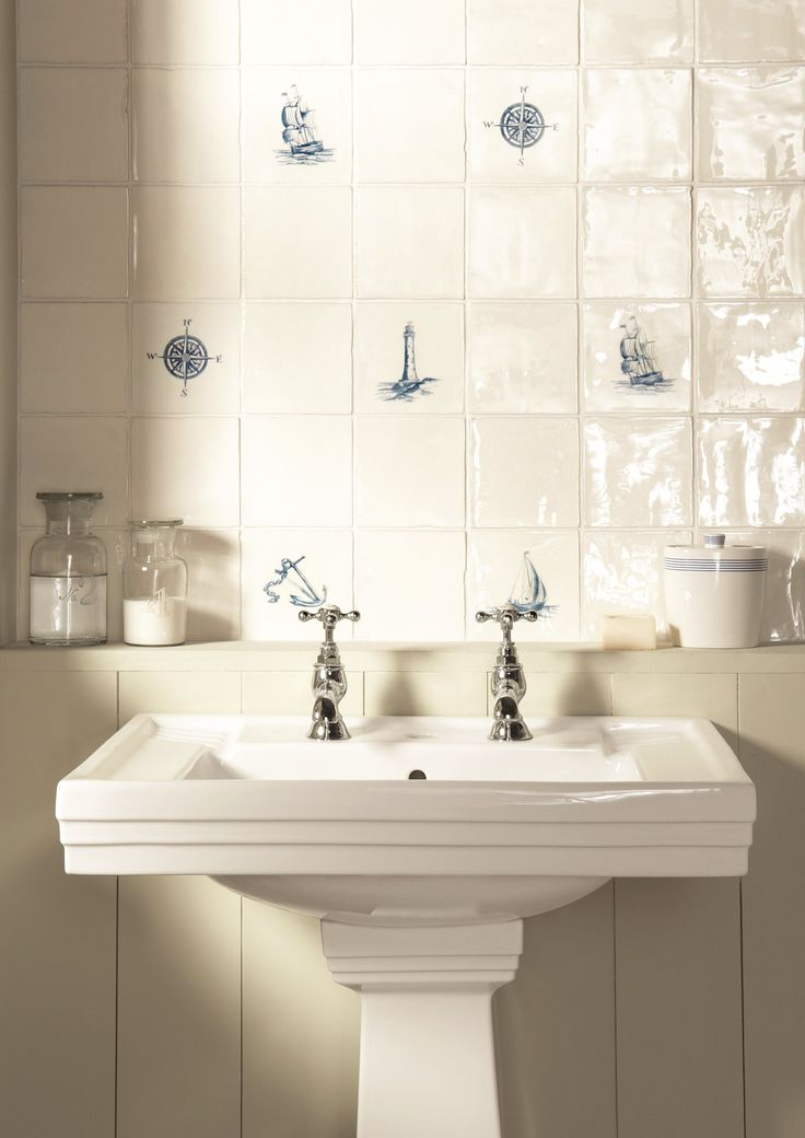 Add Pretty Blue Details With These Nautical Inspired Tiles From The  Winchester Tile Company.