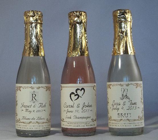 Personalized Wedding Favors Sparkling Cider Wine Champagne Mini Bottles