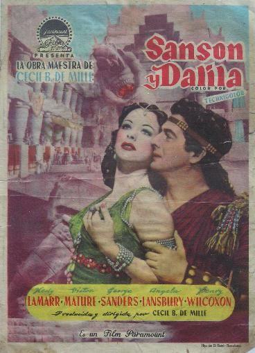 Folleto de tamaño grande del film : SANSON Y DALILA. 1949