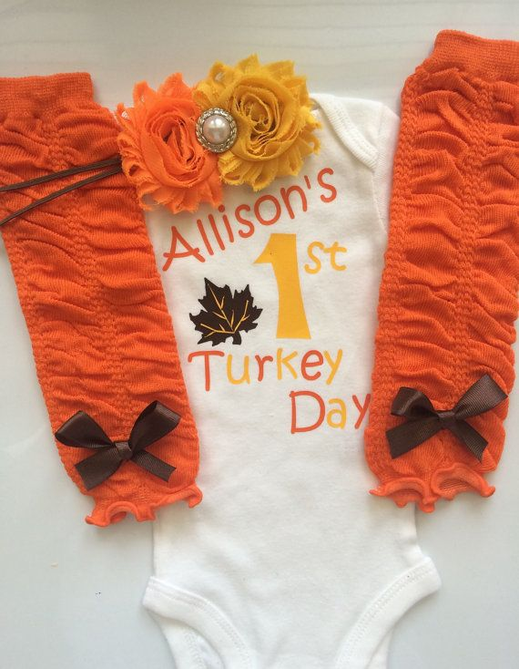 INFANT girl Thanksgiving outfit  Baby girl fall by AboutASprout